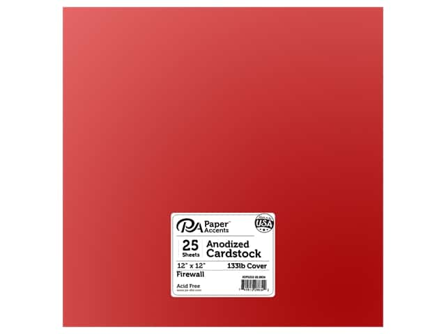 Paper Accents Anodized Cardstock 12 x 12 in. Firewall