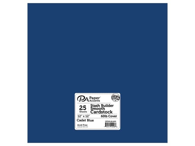 Paper Accents Cardstock 12 x 12 in. #10072 Stash Builder Cadet Blue