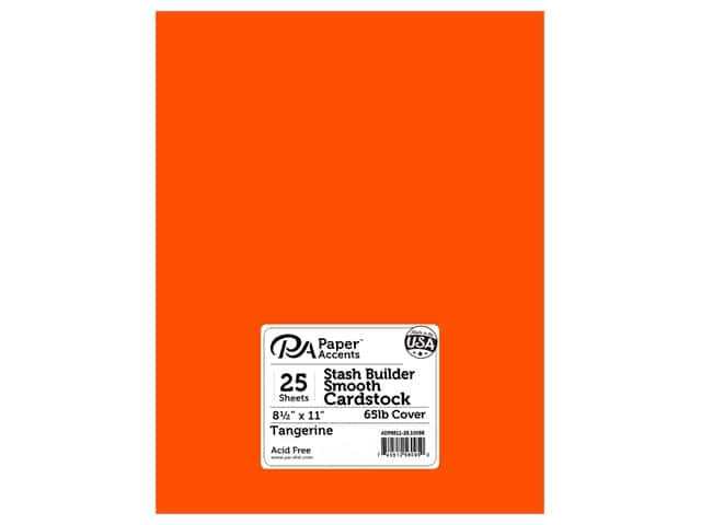 Paper Accents Cardstock 8 1/2 x 11 in. #10098 Stash Builder Tangerine 25 pc.