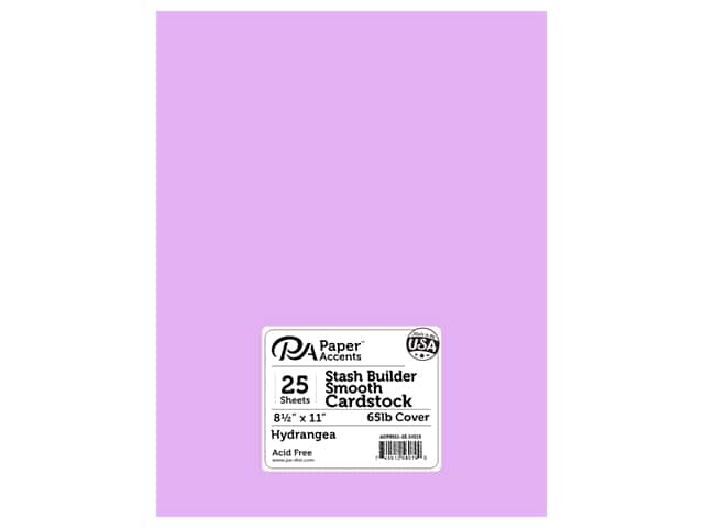 Paper Accents Cardstock 8 1/2 x 11 in. #10119 Stash Builder Hydrangea 25 pc.