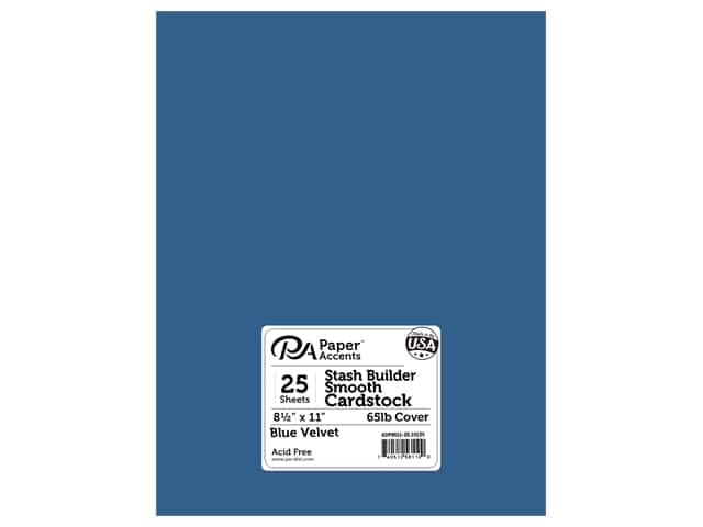 Paper Accents Cardstock 8 1/2 x 11 in. #10130 Stash Builder Blue Velvet 25 pc.