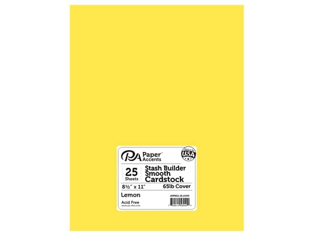 Paper Accents Cardstock 8 1/2 x 11 in. #10040 Stash Builder Lemon 25 pc.