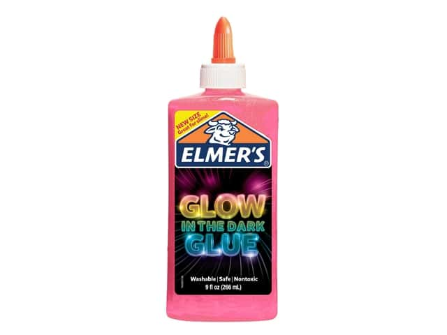 Elmer's Glue Glow In The Dark 9 oz Glitter Pink