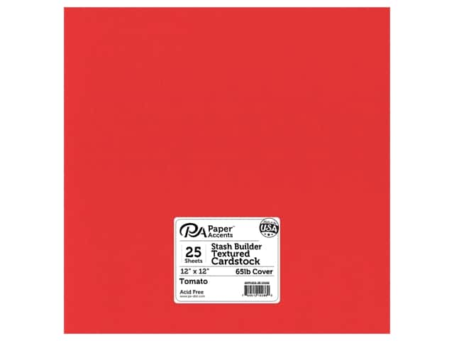 Paper Accents Cardstock 12 x 12 in. #10152 Stash Builder Textured Tomato 25 pc.
