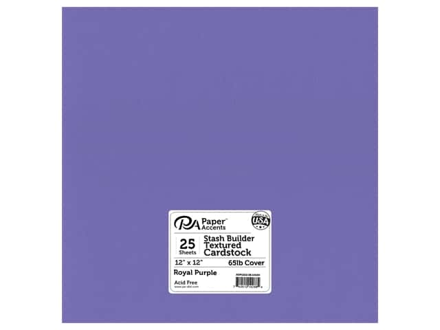 Paper Accents Cardstock 12 x 12 in. #10154 Stash Builder Textured Royal Purple 25 pc.