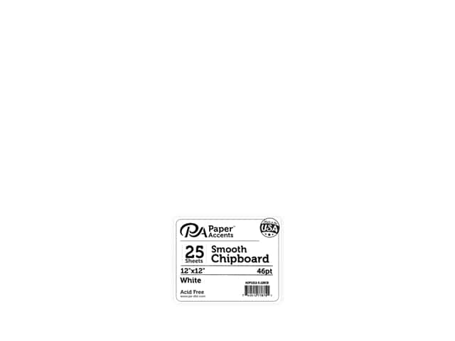 Paper Accents Chipboard 12 x 12 in. 50 pt. Extra Heavy White