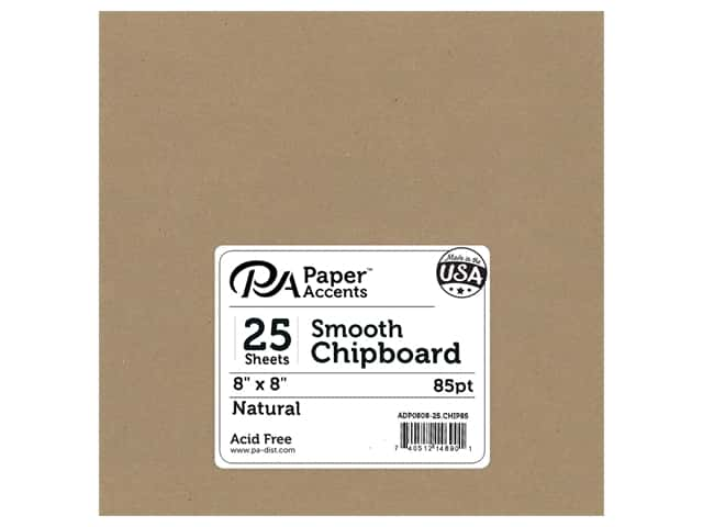 Paper Accents Chipboard 8 x 8 in. 85 pt. 2X Heavy Natural