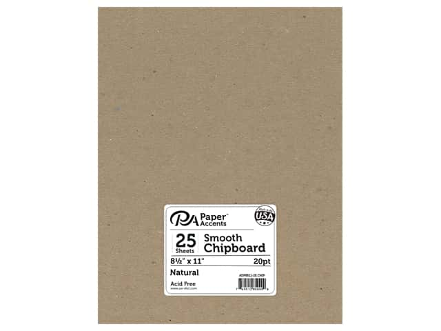 Paper Accents Chipboard 8 1/2 x 11 in. 20 pt. Light Weight Natural 25 pc.