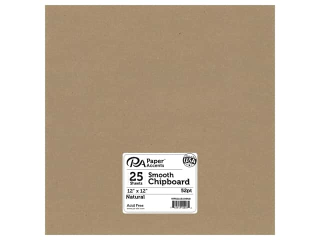 Paper Accents Chipboard 12 x 12 in. 52 pt. Extra Heavy Natural
