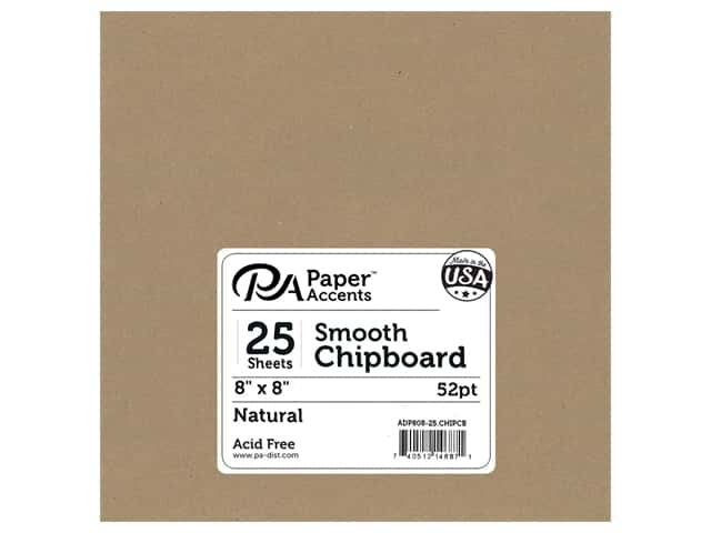 Paper Accents Chipboard 8 x 8 in. 52 pt. Extra Heavy Natural