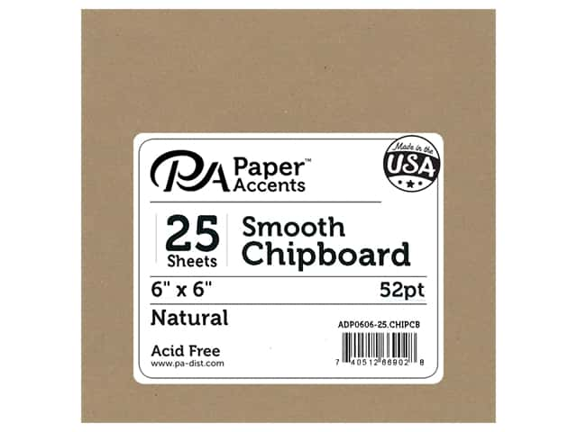 Paper Accents Chipboard 6 x 6 in. 52 pt. Extra Heavy Natural