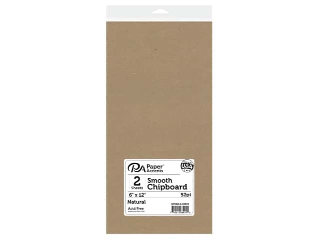 Paper Accents Chipboard 6 x 12 in. 52 pt. Extra Heavy Natural 2 pc.