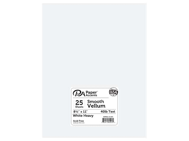Paper Accents Vellum 8 1/2 x 11 in. #903 Heavy Weight White 25 pc.