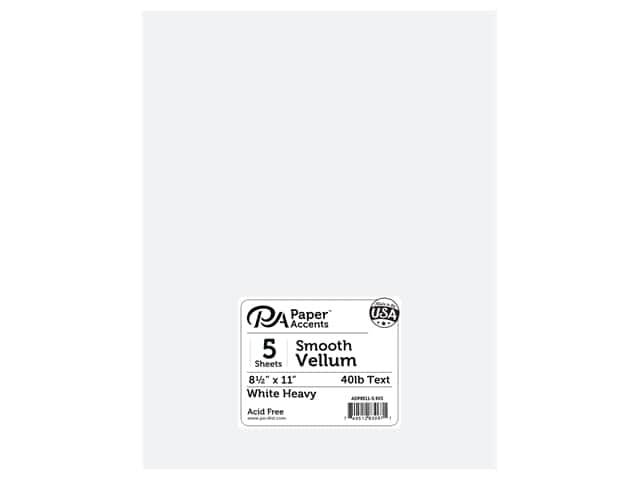 Paper Accents Vellum 8 1/2 x 11 in. #903 Heavy Weight White 5 pc.