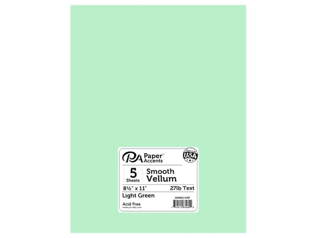 Paper Accents Vellum 8 1/2 x 11 in. #937 Light Green 5 pc.