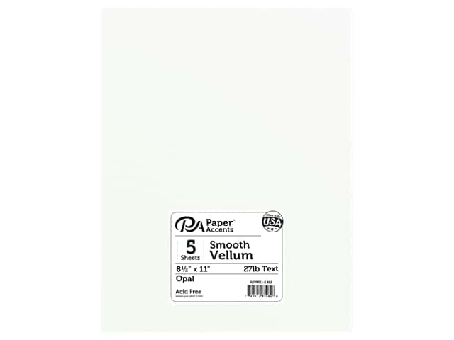 Paper Accents Vellum 8 1/2 x 11 in. #952 Opal 5 pc.