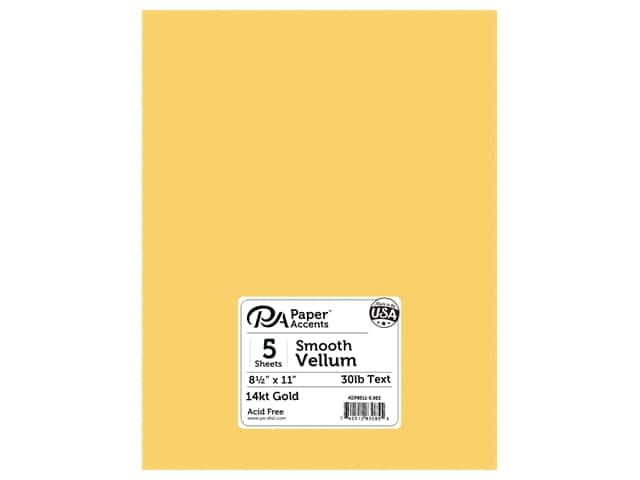 Paper Accents Vellum 8 1/2 x 11 in. #953 14 kt. Gold 5 pc.