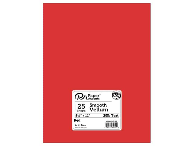 Paper Accents Vellum 8 1/2 x 11 in. #916 Red 25 pc.