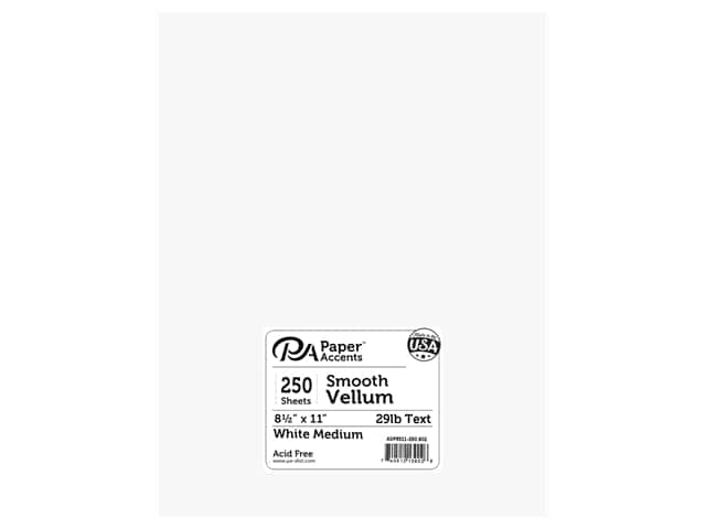 Paper Accents Vellum 8 1/2 x 11 in. #902 Medium Weight White 250 pc.