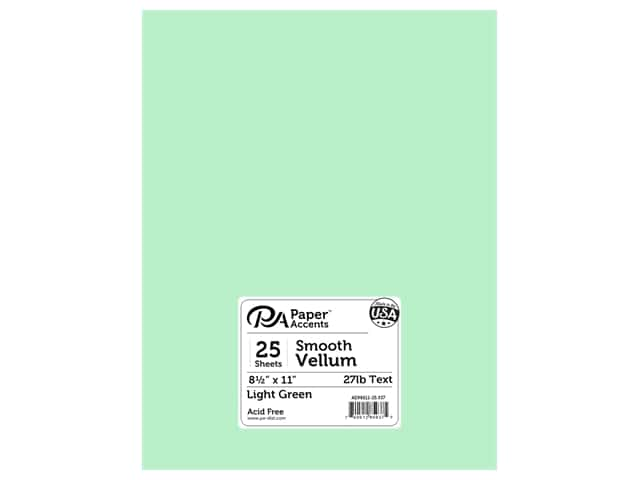 Paper Accents Vellum 8 1/2 x 11 in. #937 Light Green 25 pc.