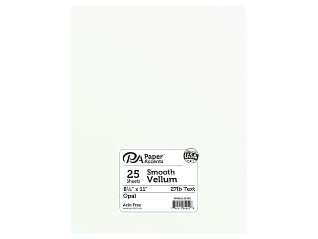 Paper Accents Vellum 8 1/2 x 11 in. #952 Opal 25 pc.