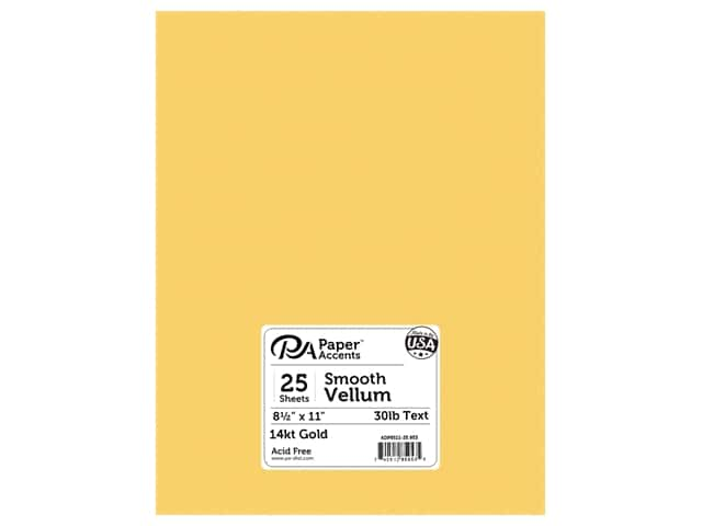 Paper Accents Vellum 8 1/2 x 11 in. #953 14 kt. Gold 25 pc.