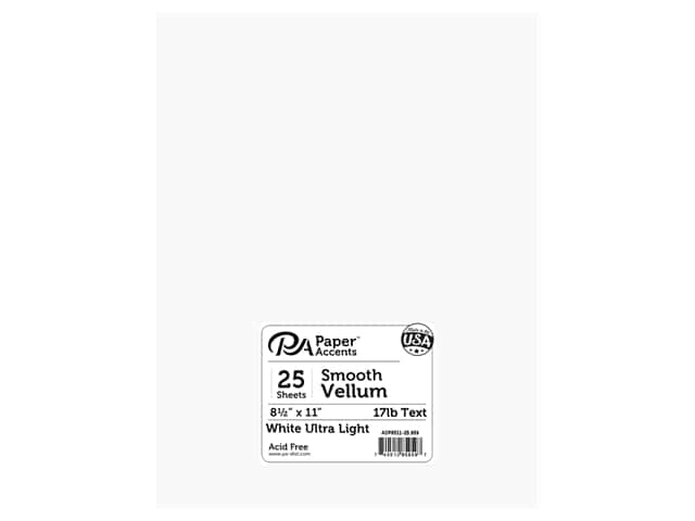 Paper Accents Vellum 8 1/2 x 11 in. #959 Ultra Light Weight White 25 pc.