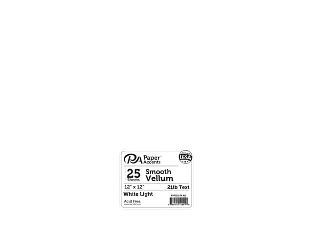 Paper Accents Vellum 12 x 12 in. 21 lb. Light Weight White 25 pc.