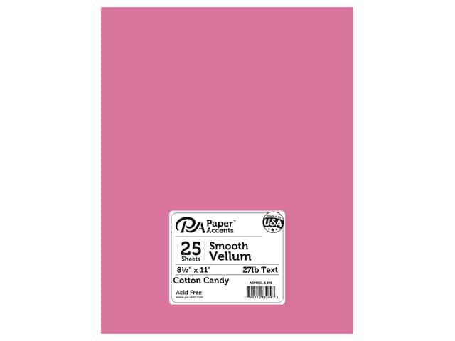 Paper Accents Vellum 8 1/2 x 11 in. #986 Cotton Candy