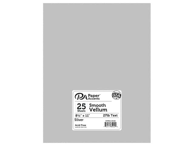 Paper Accents Vellum 8 1/2 x 11 in. #924 Silver 25 pc.