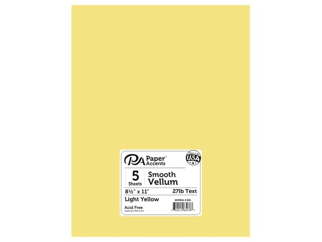 Paper Accents Vellum 8 1/2 x 11 in. #935 Light Yellow 5 pc.