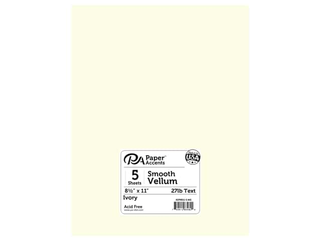 Paper Accents Vellum 8 1/2 x 11 in. #943 Ivory 5 pc.