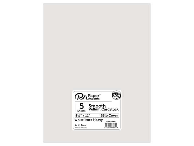 Paper Accents Vellum 8 1/2 x 11 in. Extra Heavy White 5 pc.