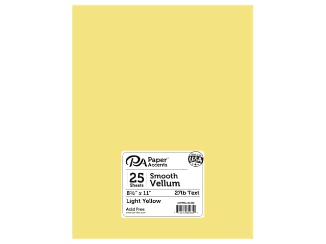 Paper Accents Vellum 8 1/2 x 11 in. #935 Light Yellow 25 pc.