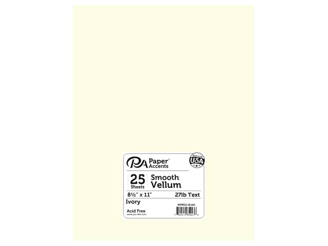 Paper Accents Vellum 8 1/2 x 11 in. #943 Ivory 25 pc.