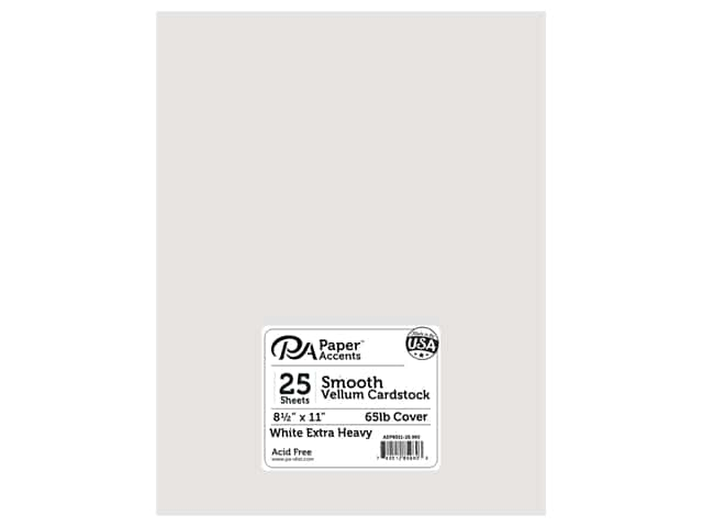 Paper Accents Vellum 8 1/2 x 11 in. #960 Extra Heavy Weight White 25 pc.
