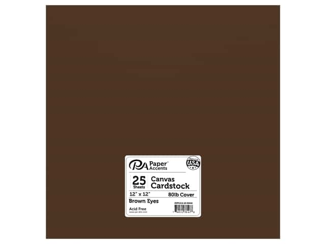 Paper Accents Cardstock 12 x 12 in. # 59908 Canvas Brown Eyes 25 pc.