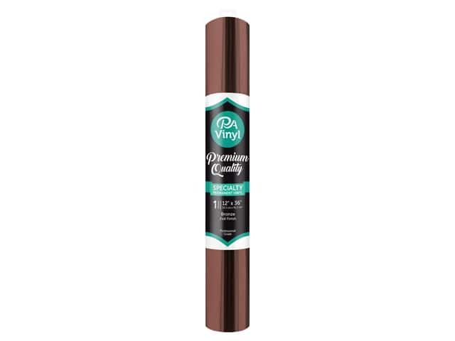 PA Adhesive Vinyl 12 x 36 in. Permanent Foil Bronze