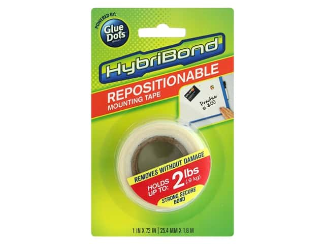 Glue Dots Mounting Tape Hybribond Repositionable 1 in. x 72 in.