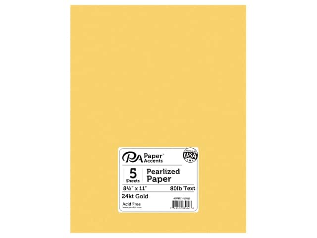 Paper Accents Pearlized Paper 8 1/2 x 11 in. #8810 24kt Gold 5 pc.