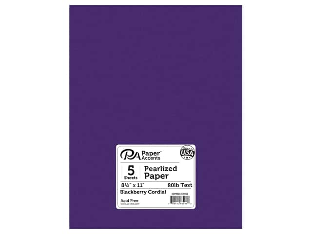Paper Accents Pearlized Paper 8 1/2 x 11 in. #8811 Blackberry Cordial 5 pc.