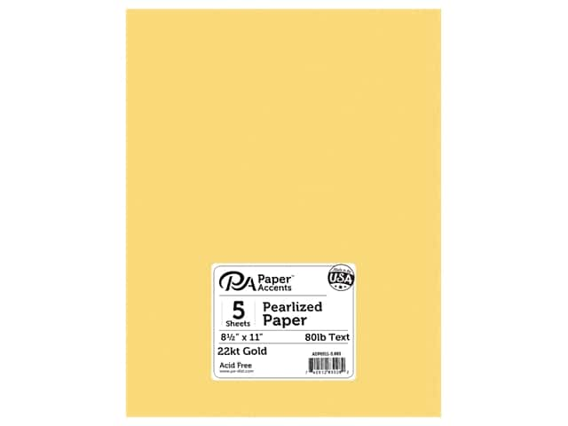 Paper Accents Pearlized Paper 8 1/2 x 11 in. #885 22kt Gold 5 pc.