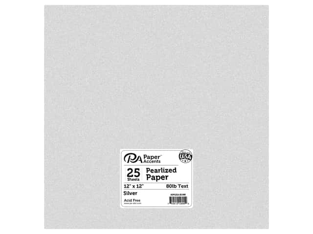 Paper Accents Pearlized Paper 12 x 12 in. #895 Silver 25 pc.