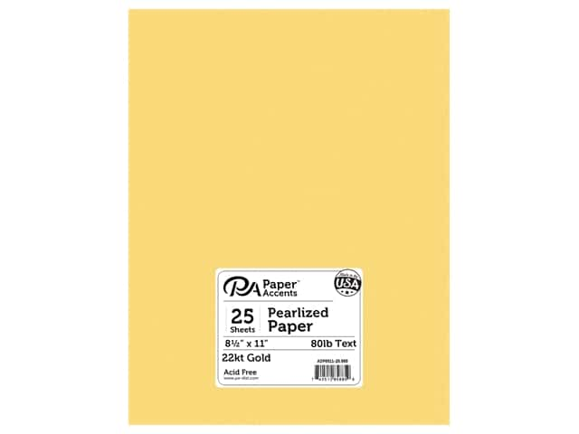 Paper Accents Pearlized Paper 8 1/2 x 11 in. #885 22kt Gold 25 pc.