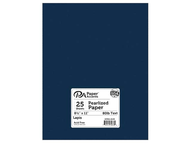 Paper Accents Pearlized Paper 8 1/2 x 11 in. #878 Lapis