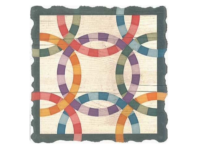 Graphic Impressions Barn Quilts Coaster Double Wedding Ring