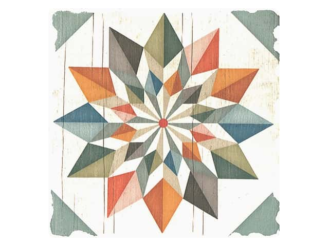 Graphic Impressions Barn Quilts Coaster Hex Star