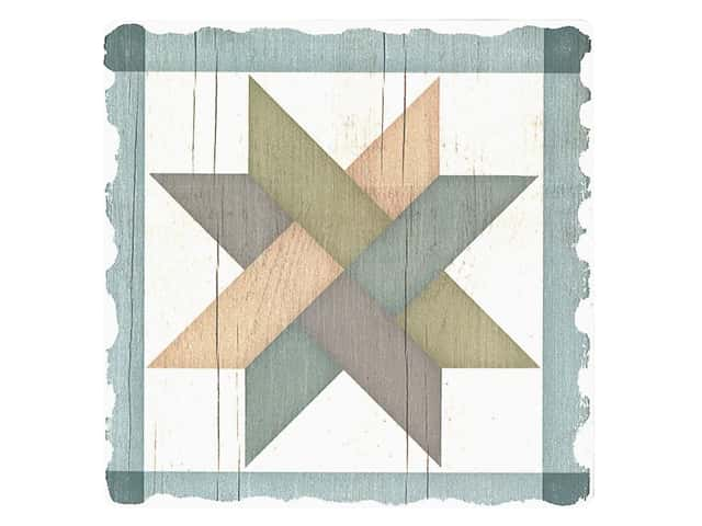 Graphic Impressions Barn Quilts Coaster Weave Star