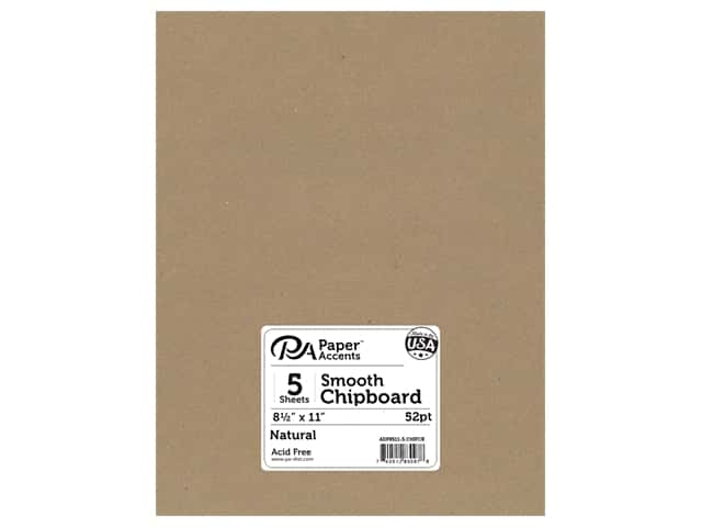 Paper Accents Chipboard 8 1/2 x 11 in. 52 pt. 1X Heavy Natural 5 pc.