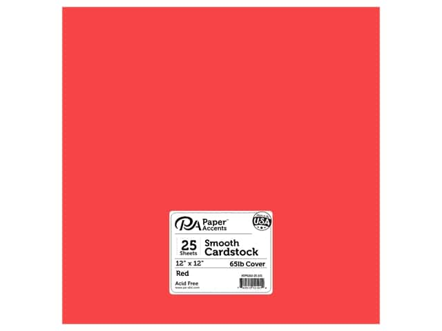 Paper Accents Cardstock 12 x 12 in. #101 Smooth Red 25 pc.
